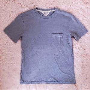 RAG & BONE Pale Blue Confetti Flecked Pocket Tee